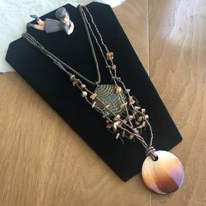 💎 Lot of 2 Boho Chic Necklaces